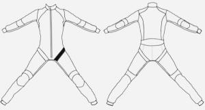 Diamant elastic – Front left