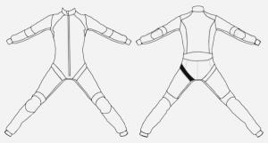 Diamant elastic – Front right